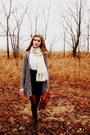 Brown-vintage-boots-charcoal-gray-target-sweater-crimson-target-tights