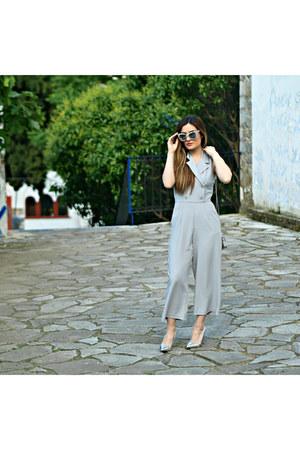 silver Stradivarius heels - marble Quay Australia sunglasses
