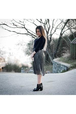 metallic jennyfer skirt