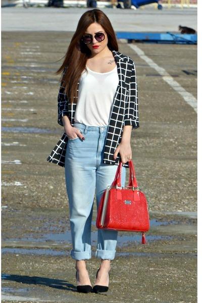 blazer - boyfriend jeans Glamorous jeans - New Style bag - Stradivarius pumps