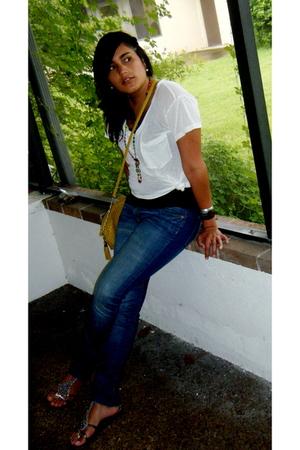 Express shirt - Forever21 shirt - Forever21 purse - H&M jeans - Forever21 bracel