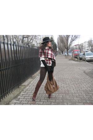 new look scarf - Jessica Simpson boots - Zara shirt - Mango pants