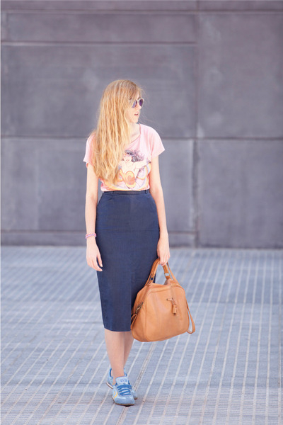 vintage skirt - Pull & Bear shirt - Misako bag - Claires sunglasses