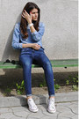 Mango-jeans-denim-h-m-shirt-converse-sneakers