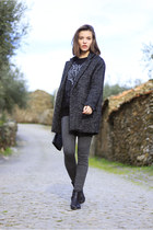 black etxartpanno boots boots - black cocoon suiteblanco coat