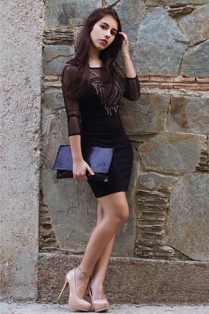 Bershka dress - Forever 21 bag - Bershka heels