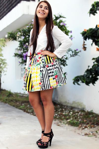 Aishop skirt - Zara shirt - Nine West bag - Nine West heels
