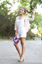 Bershka blazer - Bershka bag - Zara shorts - H&M blouse - Nine West heels