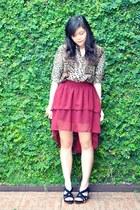 chiffon Porcupid Closet skirt - Zara blouse