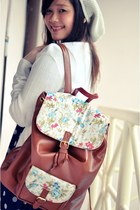 backpack mayonette bag - lace up oxfords Gaudi shoes - unbranded dress