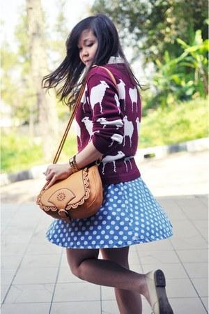 polka dot Topshop skirt