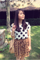 PERSUNMALL skirt - daisy prints PERSUNMALL blouse