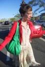Red-f21-jacket-floral-banana-republic-skirt-sheer-h-m-blouse