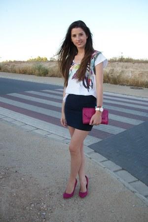 Bershka shoes - Mango bag - pull&bear skirt - Stradivarius t-shirt
