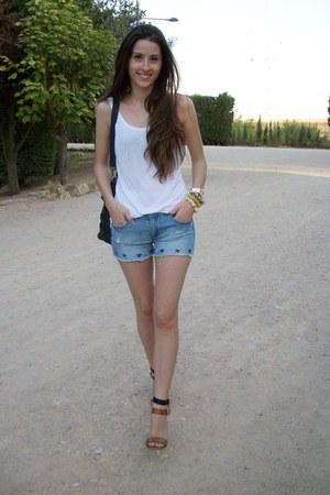 Zara sandals - Sfera bag - Zara shorts - pull&bear t-shirt