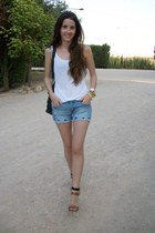 Zara sandals - Sfera bag - Zara shorts - pull&bear t-shirt