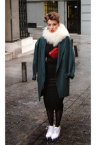 Jeffrey Campbell wedges - Zara blazer - red lipstick H&M bag