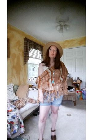 brown multi Lucky Brand scarf - bronze brown clogs free people shoes