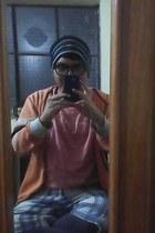 black Adidas hat - orange INDEX BACK TO BASICS jacket - gray Adrian tights