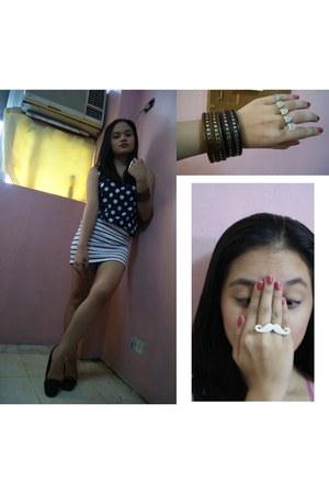 ring - ring - bangles bracelet - black flats Dorothy Perkins flats