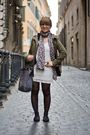 Green-hm-jacket-white-pull-bear-dress-gray-marc-by-marc-jacobs-accessories-