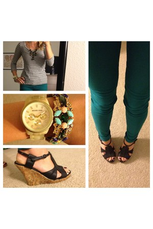 Jcrew accessories - Bull Head jeans - stripes Jcrew shirt - Michael Kors watch