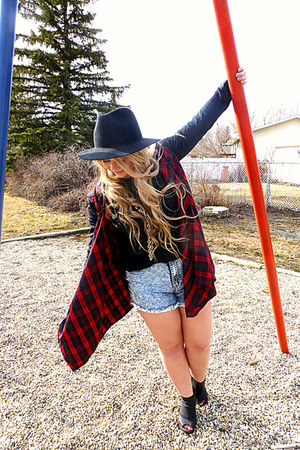 red plaid cardigan cardigan