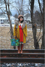 Brown-michael-kors-boots-red-modcloth-dress-mustard-target-coat