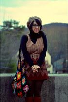 brown pinafore Brag Vintage dress - brown Michael Kors boots