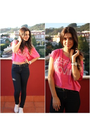hot pink Bershka top