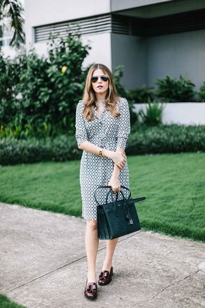 forest green printed tory burch dress - forest green Saint Laurent bag