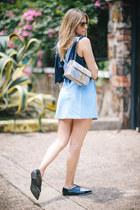 pointy oxford Zara flats - shoulder bag Bottega Veneta bag