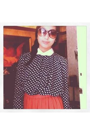 polka dots Pink Manila top - leopard print Nava sunglasses