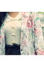 Dark-brown-sheer-polkadot-sammydress-tights-off-white-vintage-blazer