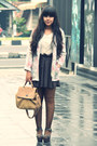 Off-white-vintage-blazer-dark-brown-sheer-polkadot-sammydress-tights