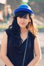 Black-unkl347-dress-blue-local-store-hat-blue-bought-in-bandung-shoes-gray