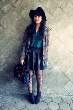 hearts & bows skirt - asos boots - tribal jersey Forever 21 blazer