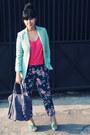 Aquamarine-boyfriend-vintage-blazer-periwinkle-chrysalis-bag