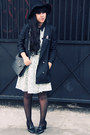 Topshop-hat-gingerbread-man-asos-dress-river-island-blazer
