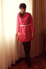 Persunmall-dress-opaque-asos-tights-studded-asos-belt