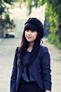 Gray-thrift-store-jacket-black-misch-top-black-endorse-delight-skirt-black