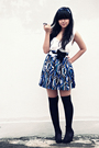Blue-american-apparel-jacket-white-h-m-top-blue-forever-21-skirt-black-sox