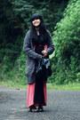 Black-pink-maxi-friday-to-sunday-dress-black-vintage-bag