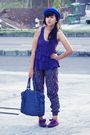 Gray-zara-jacket-purple-bloop-relaxing-top-purple-zara-pants-blue-local-st