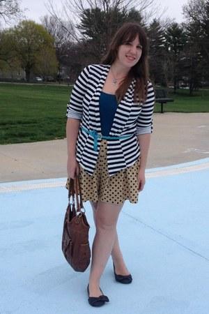 black Charlotte Russe blazer - dark brown TJ Maxx bag - camel Target shorts