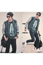 black zara jeans - white converse shoes - forest green zara jacket