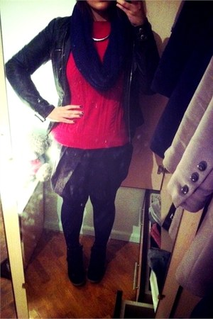 Promod jacket - Zara sweater - New Yorker scarf - Oggi skirt