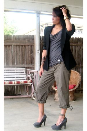Forever 21 shoes - Charlotte Russe pants - Charlotte Russe blouse - Burlington b
