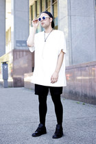 American Apparel hat - Evan Ducharme shirt - vintage shorts