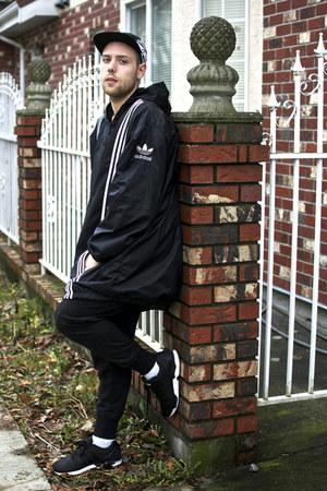 Adidas hat - Adidas jacket - BDG pants - Adidas sneakers